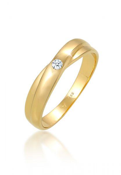 Verlobungsring | Diamant ( Weiß, 0,03 ct ) | 585 Gelbgold