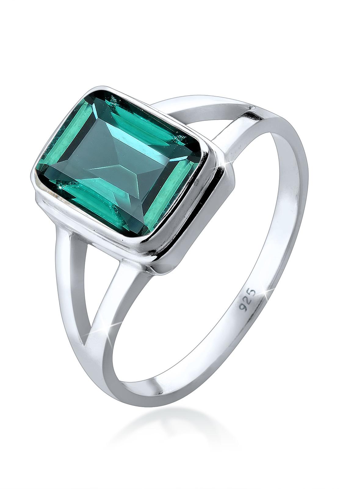 Ring   Quarz ( Grün )   925er Sterling Silber
