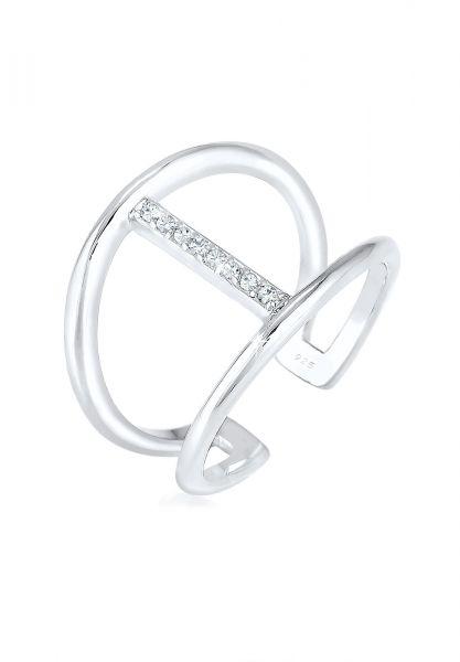 Elli Ring Geo Minimal Kristalle 925 Silber