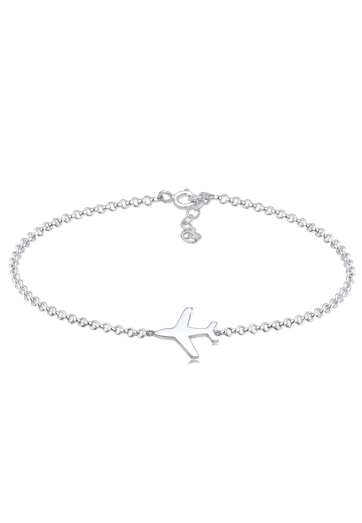 Armband Flugzeug   925er Sterling Silber
