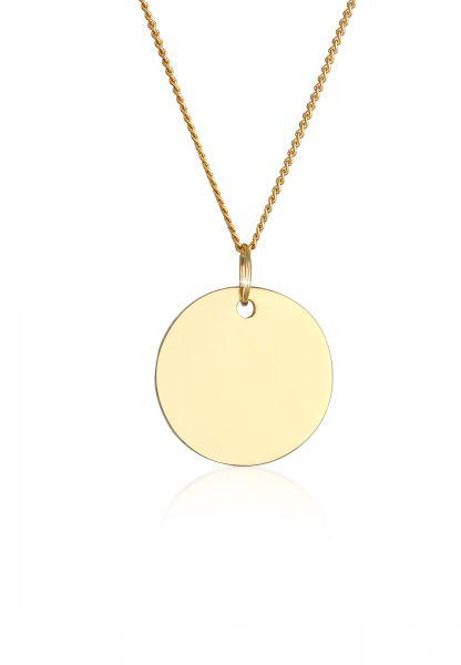 Elli PREMIUM Halskette Kreis 585 Gelbgold