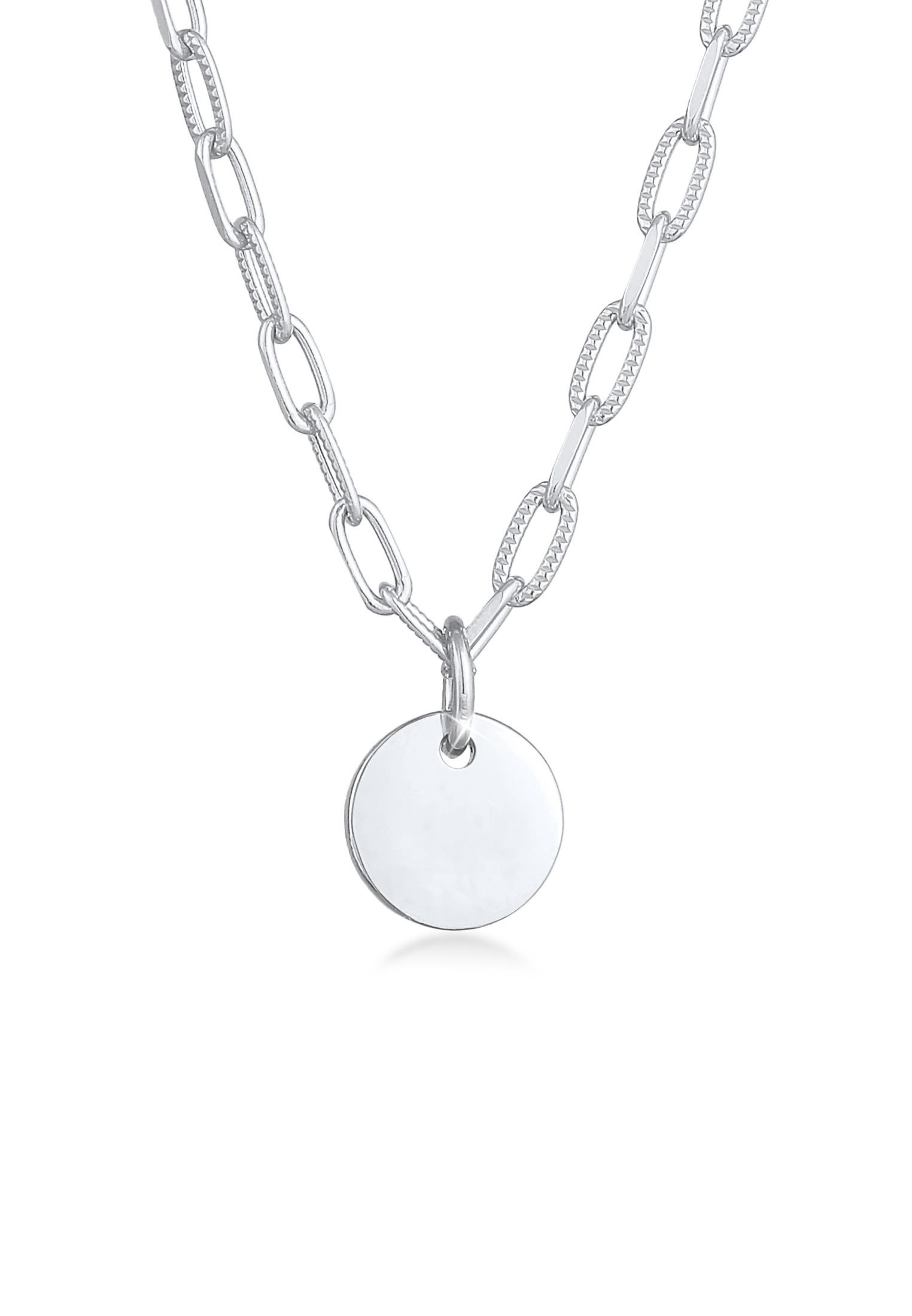 Gliederkette Plättchen | 925er Sterling Silber