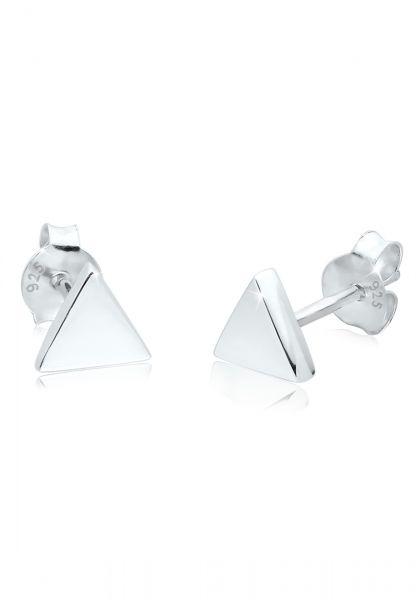 Ohrstecker Dreieck   925er Sterling Silber
