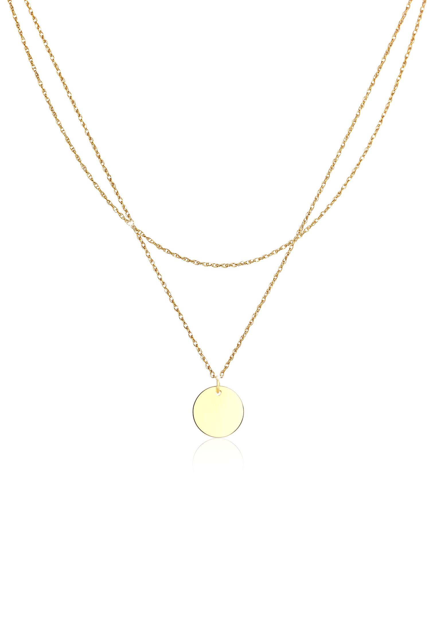 Layer-Halskette Geo | 925 Sterling Silber vergoldet