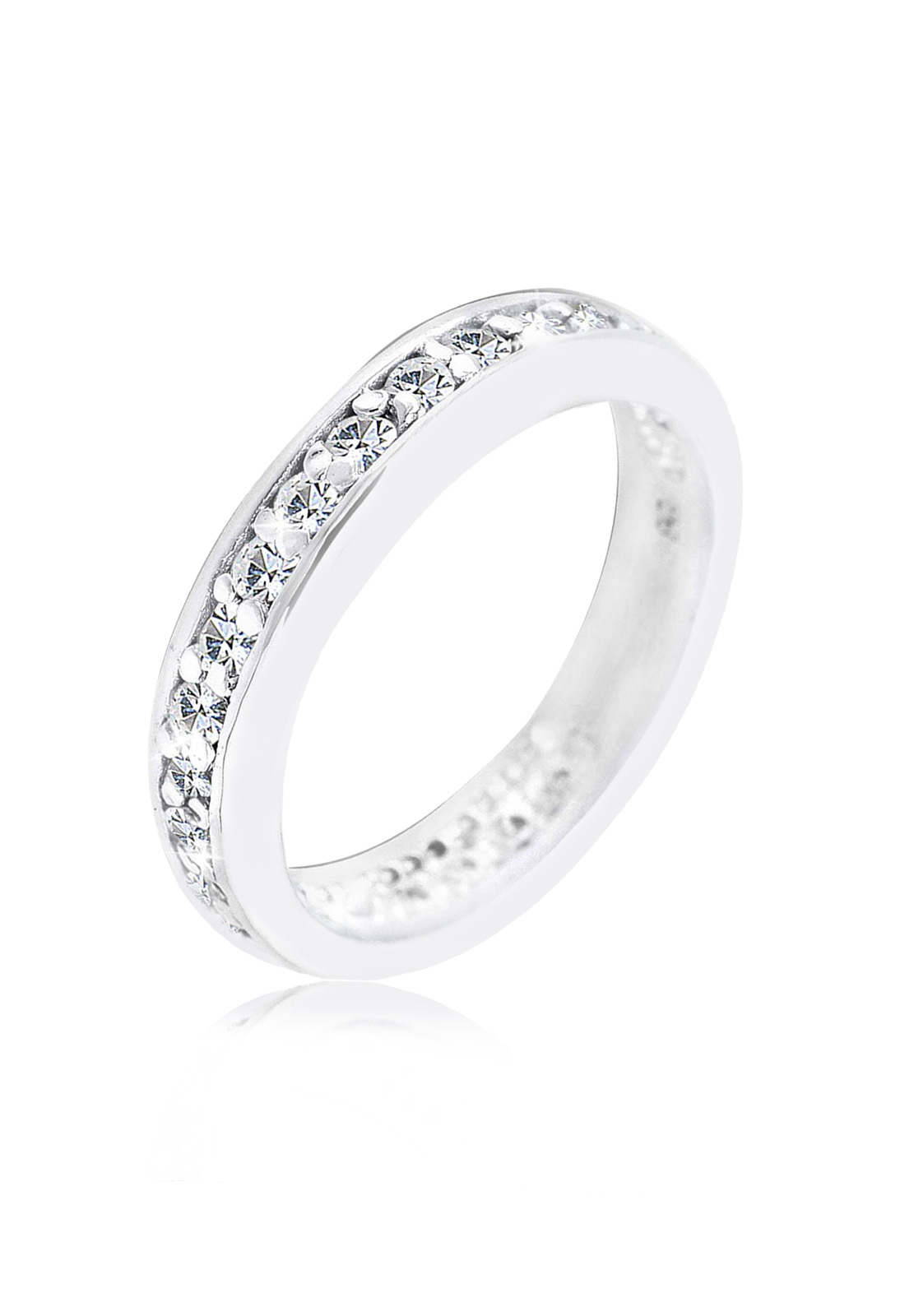 Bandring   Kristall ( Weiß )   925er Sterling Silber