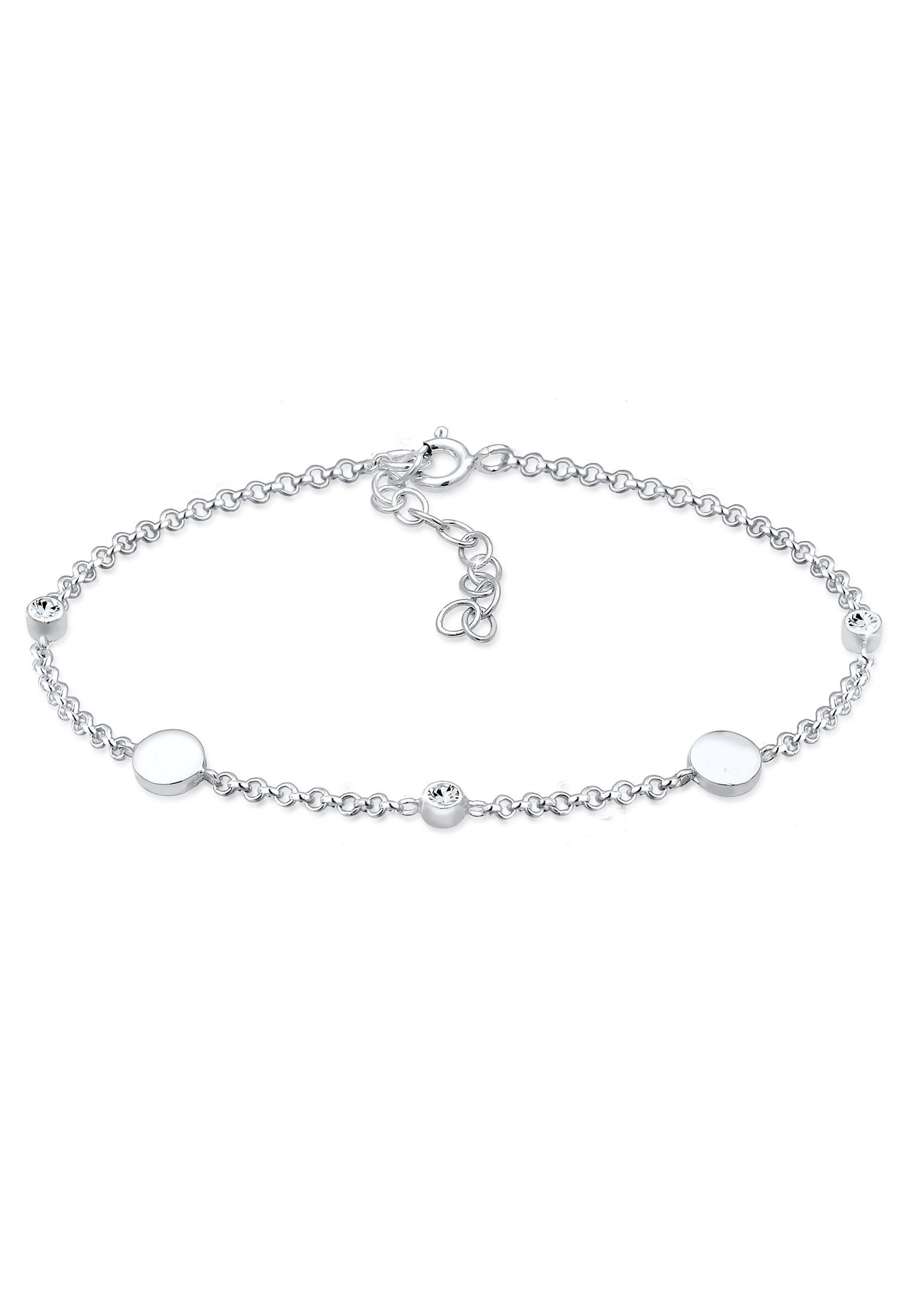 Armband Kreis | Kristall ( Weiß ) | 925er Sterling Silber
