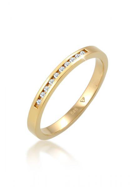 Verlobungsring | Diamant ( Weiß, 0,05 ct ) | 585 Gelbgold