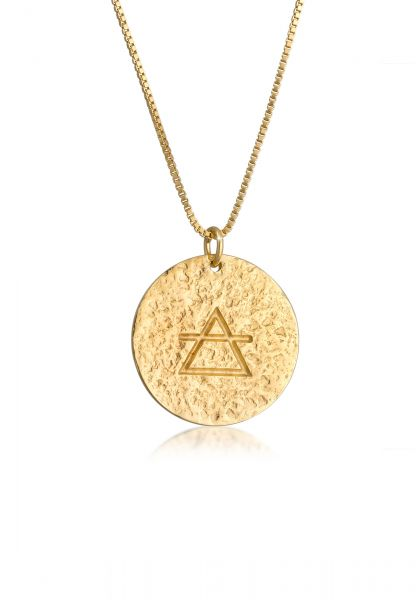 Lange Venezianer-Halskette   925 Sterling Silber vergoldet