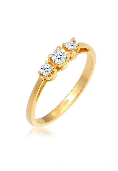 Verlobungsring | Diamant ( Weiß, 0,23 ct ) | 585 Gelbgold