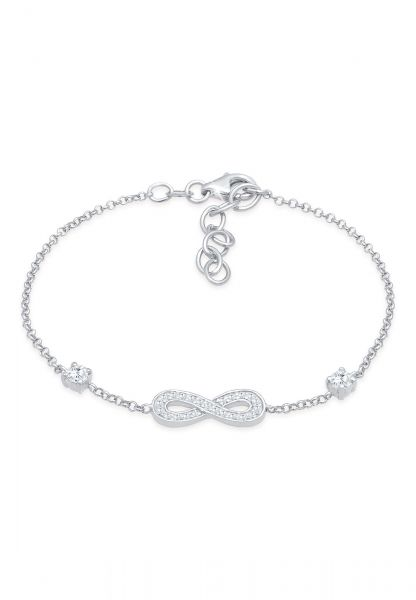 Armband Infinity | Zirkonia ( Weiß ) | 925er Sterling Silber