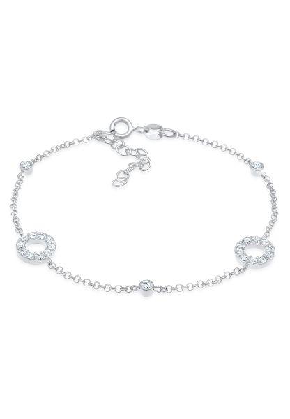 Elli Armband Kristalle Kreise Vintage 925 Silber