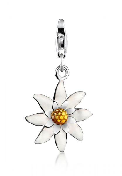 Charm Blume   925er Sterling Silber