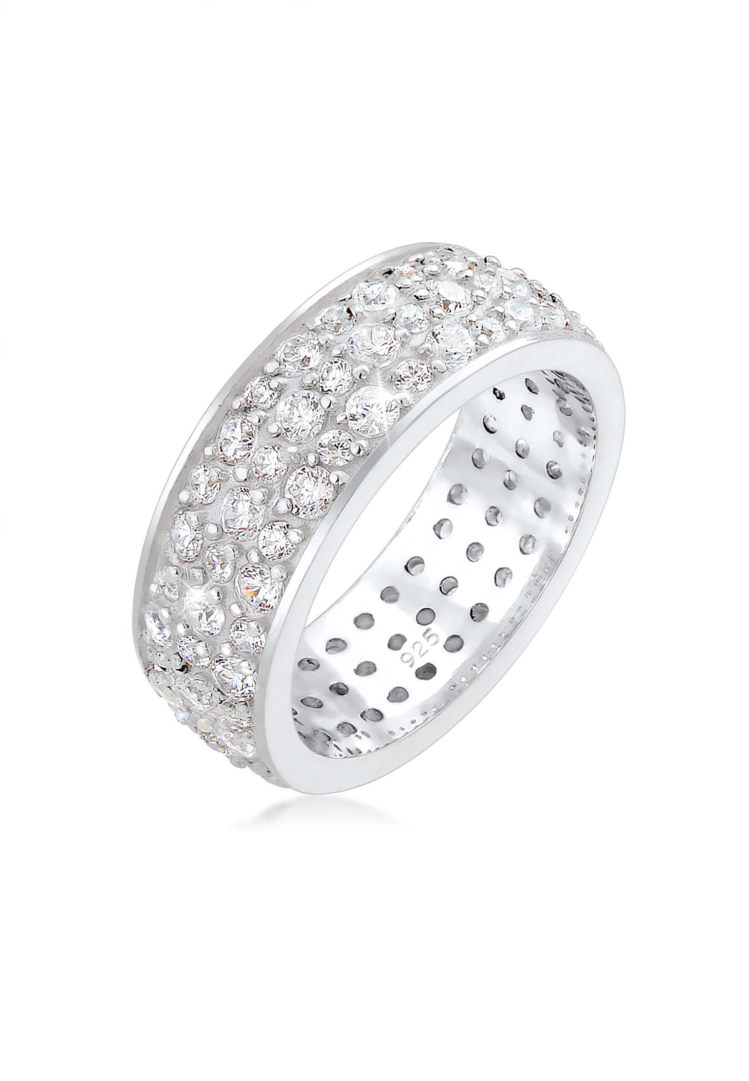 Bandring | Zirkonia ( Weiß ) | 925er Sterling Silber