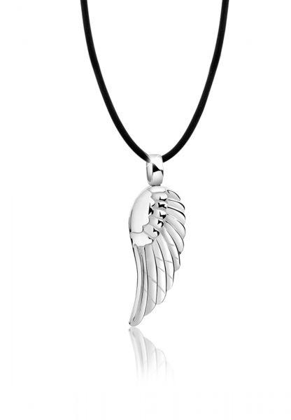 Glieder-Halskette Flügel   925er Sterling Silber