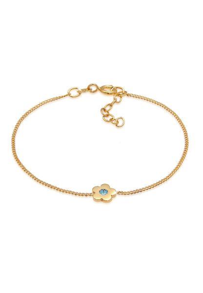 Elli Armband Kinder Blume Kristalle 925 Silber