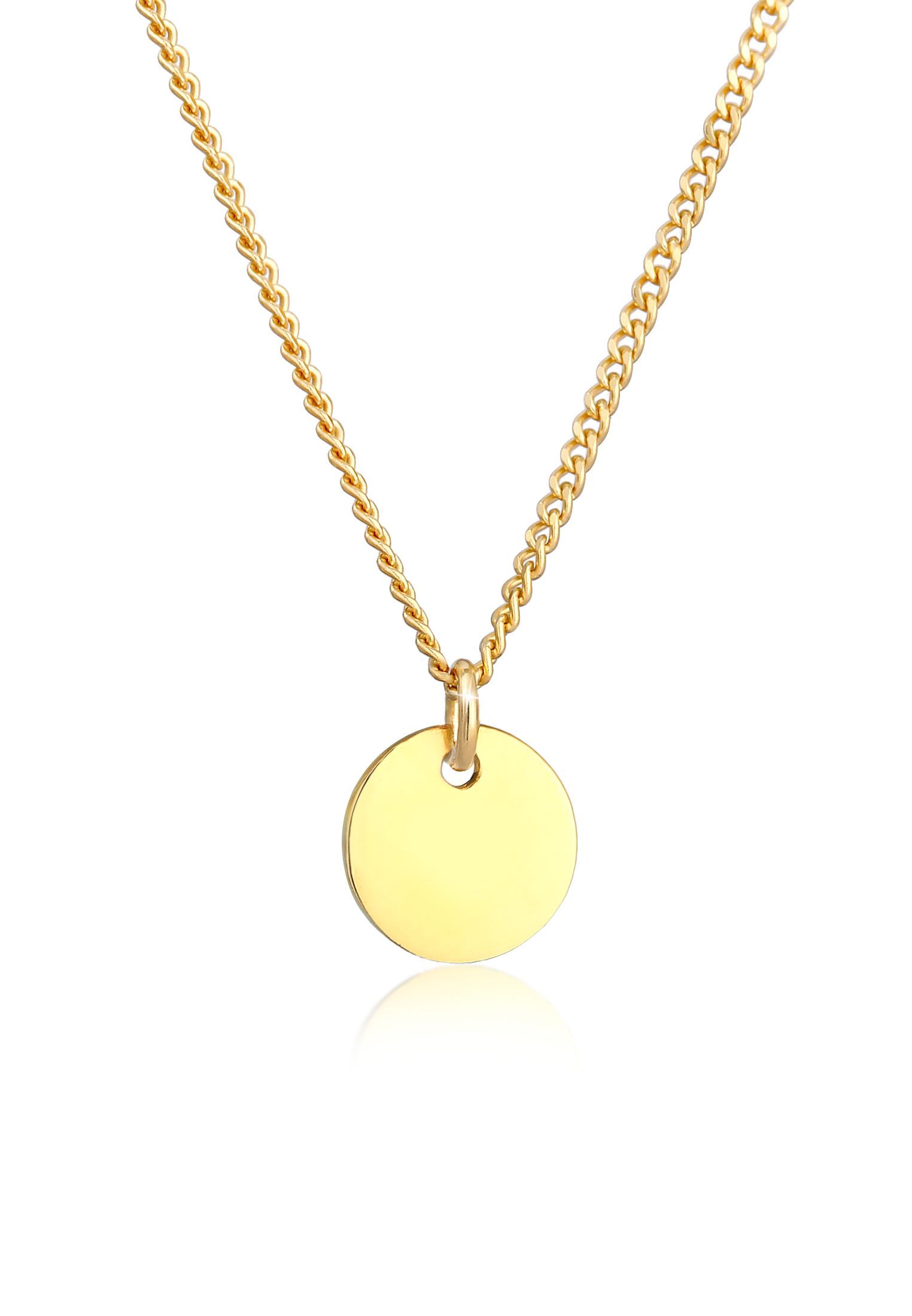 Halskette Plättchen | 375er Gelbgold