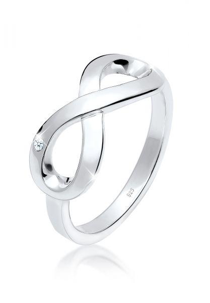 Elli PREMIUM Ring Infinity Ewig Diamant (0.015 ct.) 925 Silber