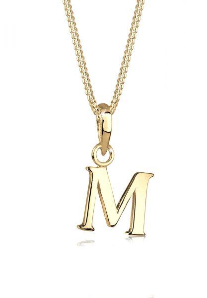 Halskette Buchstabe | 925 Sterling Silber vergoldet