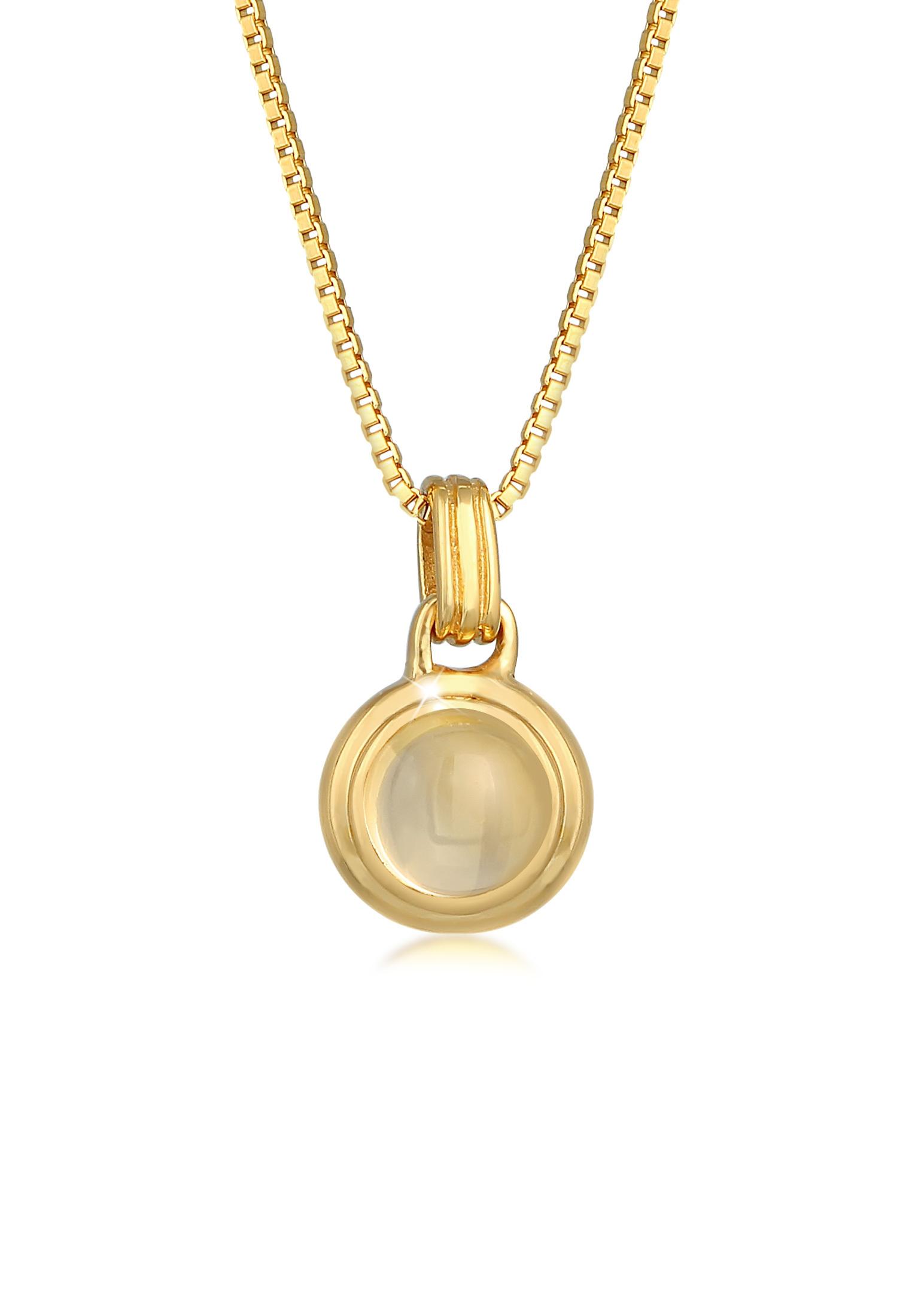 Halskette | Citrin (gelb) | 925er Sterling Silber