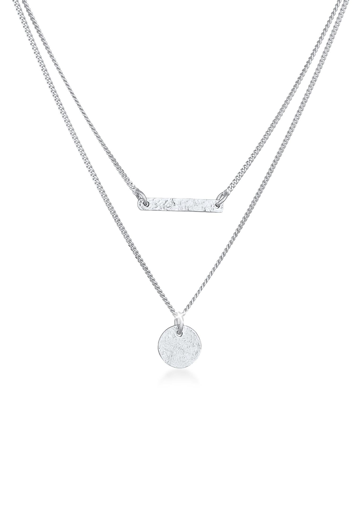 Halskettenset Geo   925er Sterling Silber