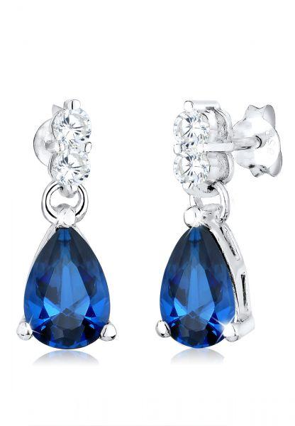 Ohrhänger Tropfen | Saphir ( Blau ) | 925er Sterling Silber