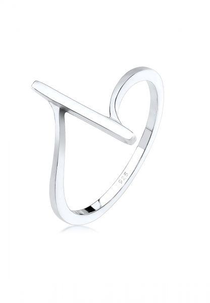 Elli Ring Bandring Geo Formen Cool Basic Minimal 925 Silber