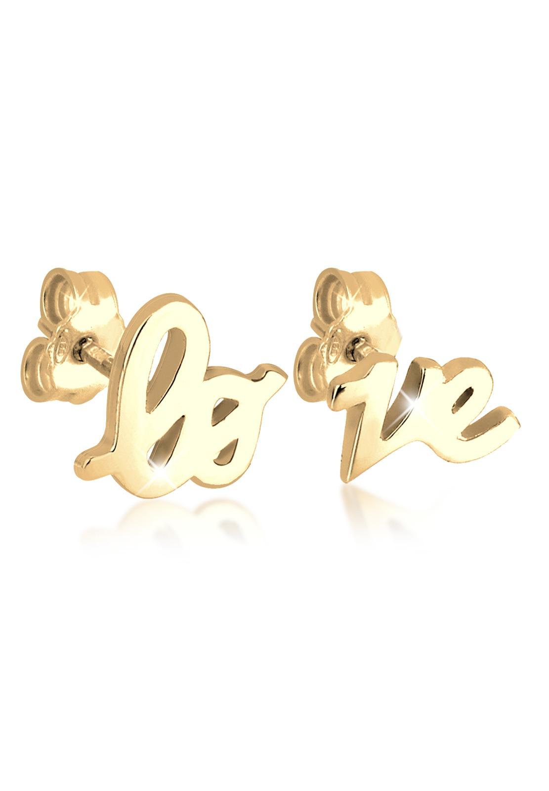 Ohrstecker Love | 925 Sterling Silber vergoldet