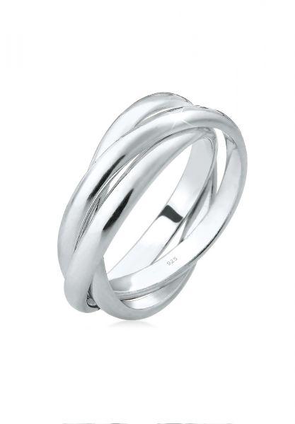 Elli Ring Basic Wickelring Klassisches Design 925 Silber