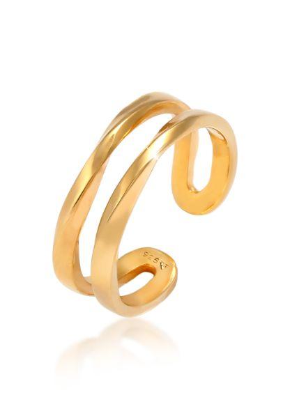 Elli Ring Zweireihig offen verstellbar 925er Silber