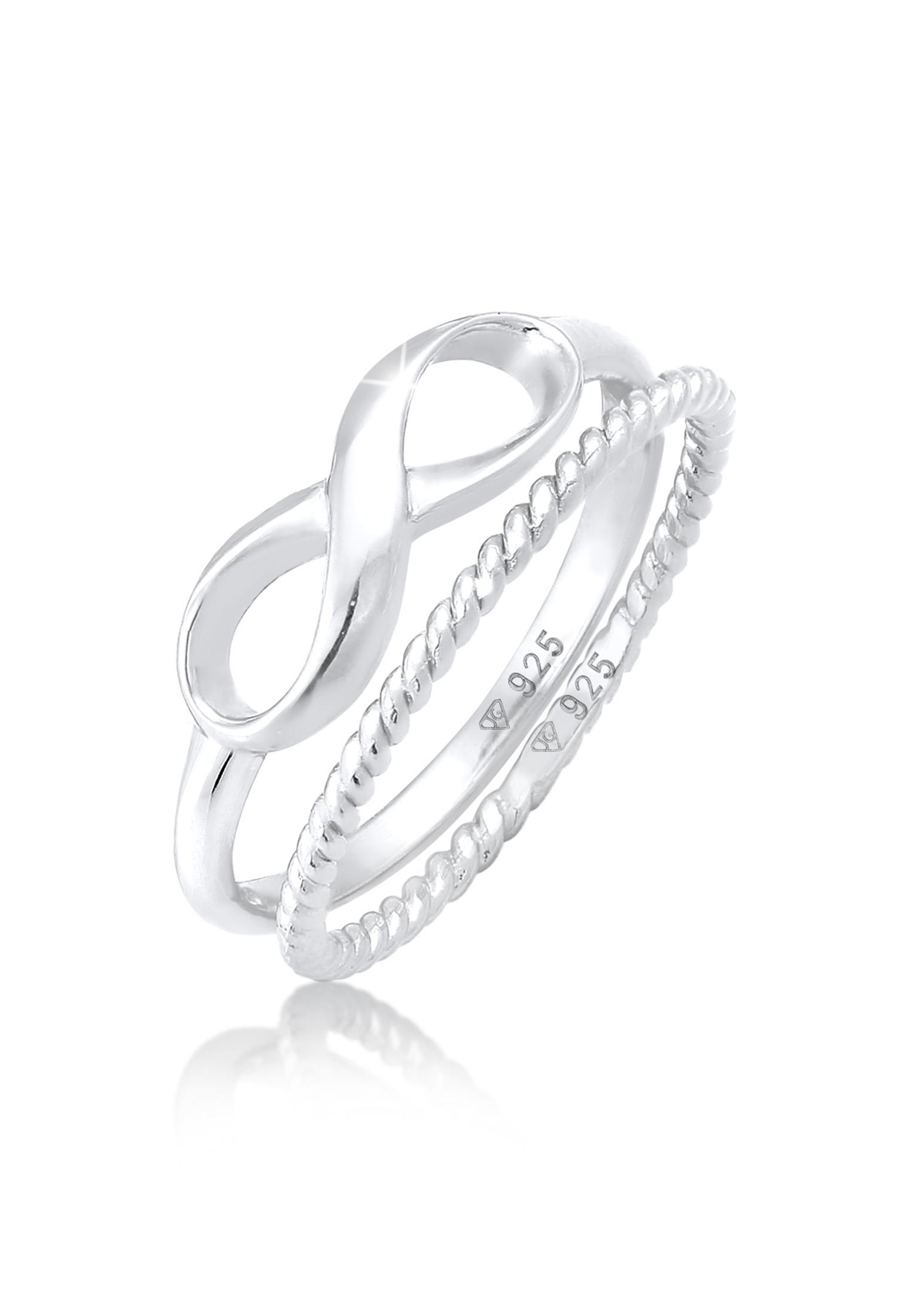 Ringset Infinity   925er Sterling Silber