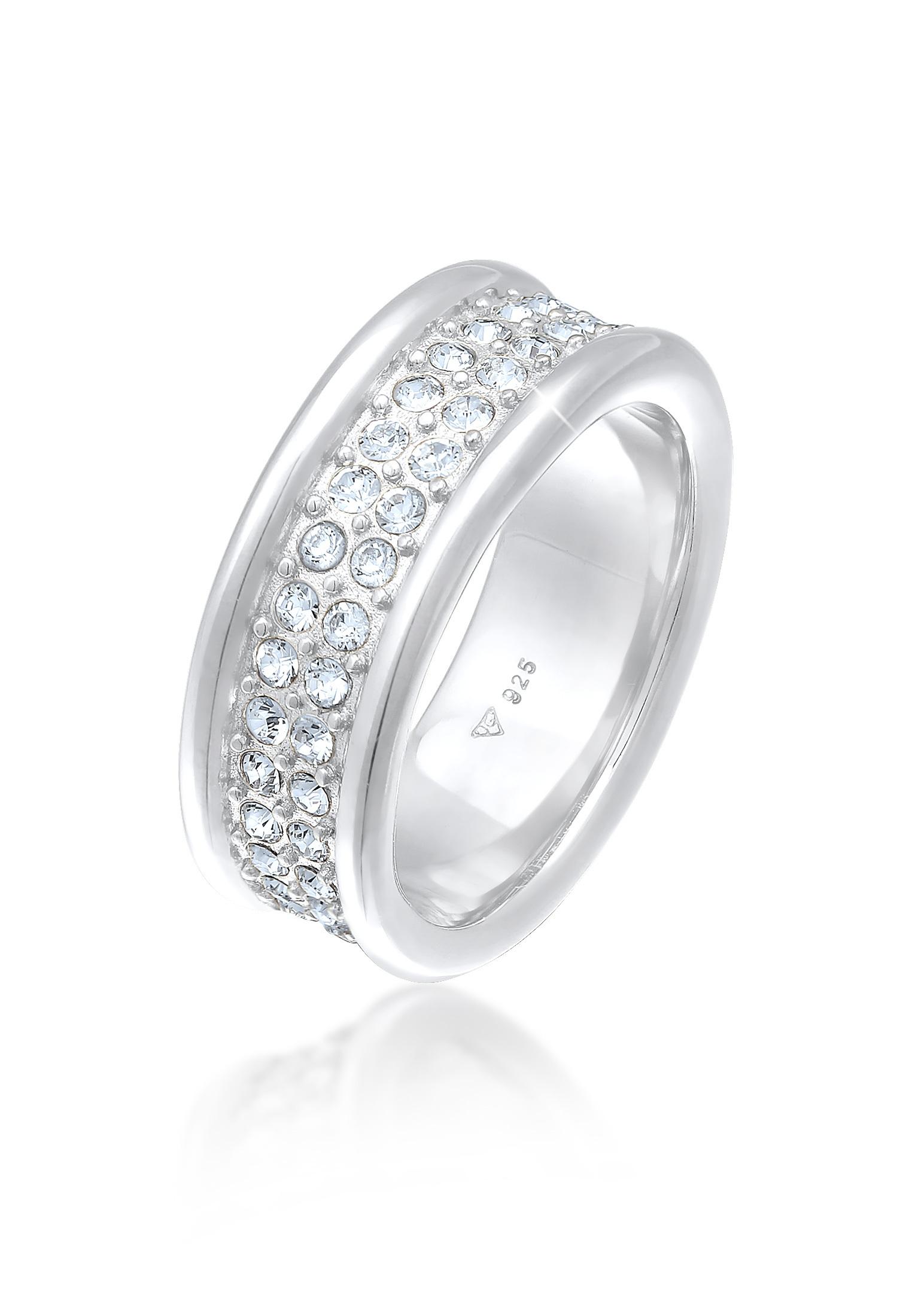 Bandring | Kristalle (weiß) | 925er Sterling Silber