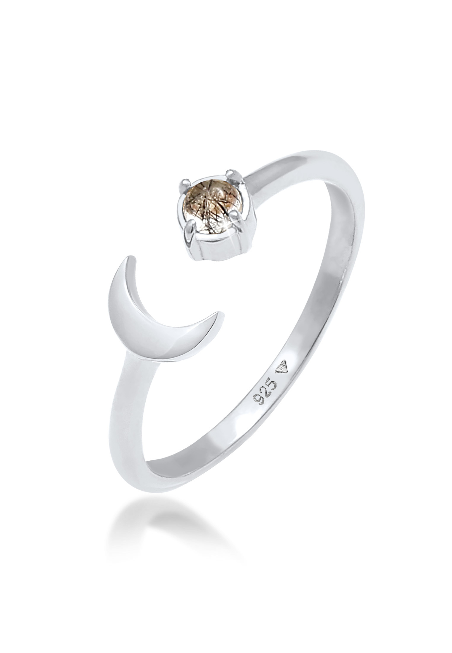 Ring Astro   Quarz ( Transparent )   925er Sterling Silber