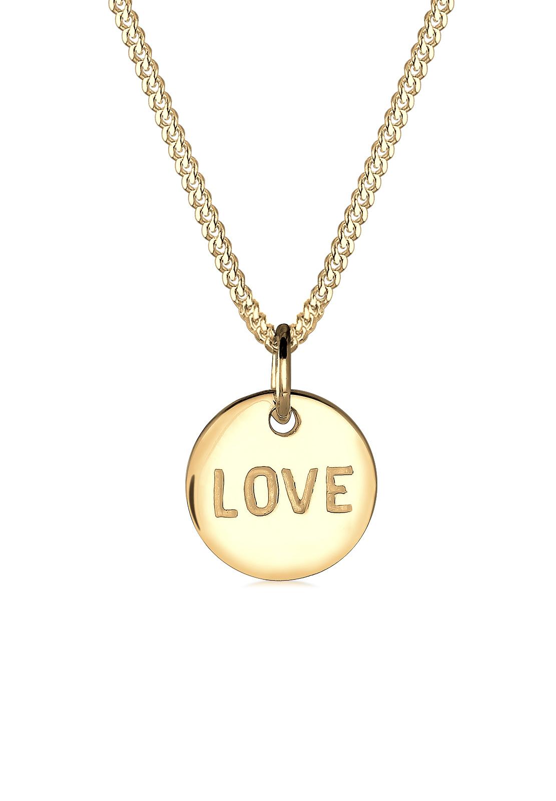 Halskette Love   585 Gelbgold