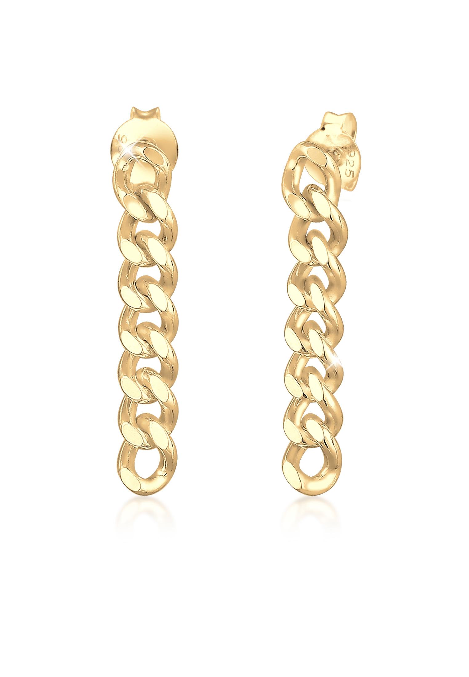 Ohrstecker Ear Chain   925er Sterling Silber