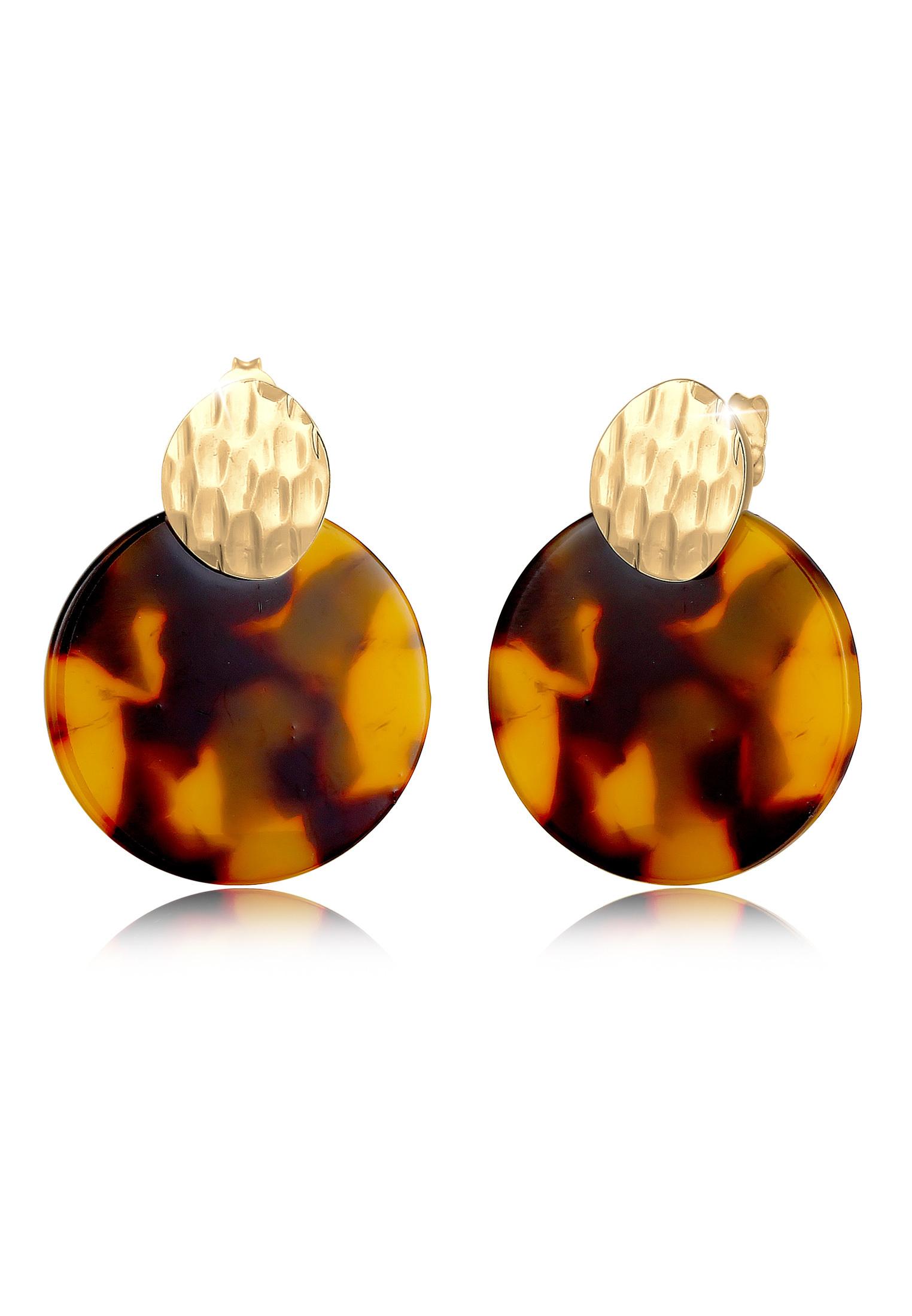 Ohrhänger Geo | 925 Sterling Silber vergoldet