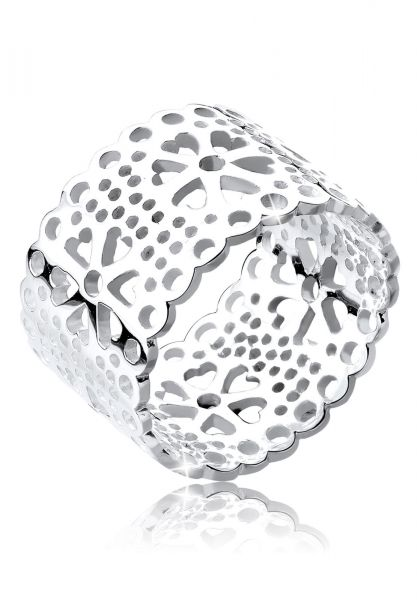 Elli Ring Blume Ornament Cut Out 925 Silber