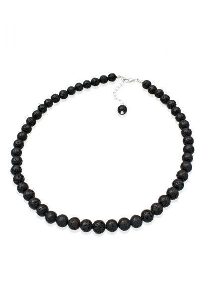 Glieder-Halskette | Lava ( Schwarz ) | 925er Sterling Silber