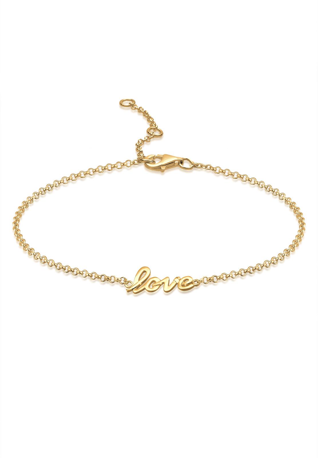 Fußkettchen Love   925 Sterling Silber vergoldet