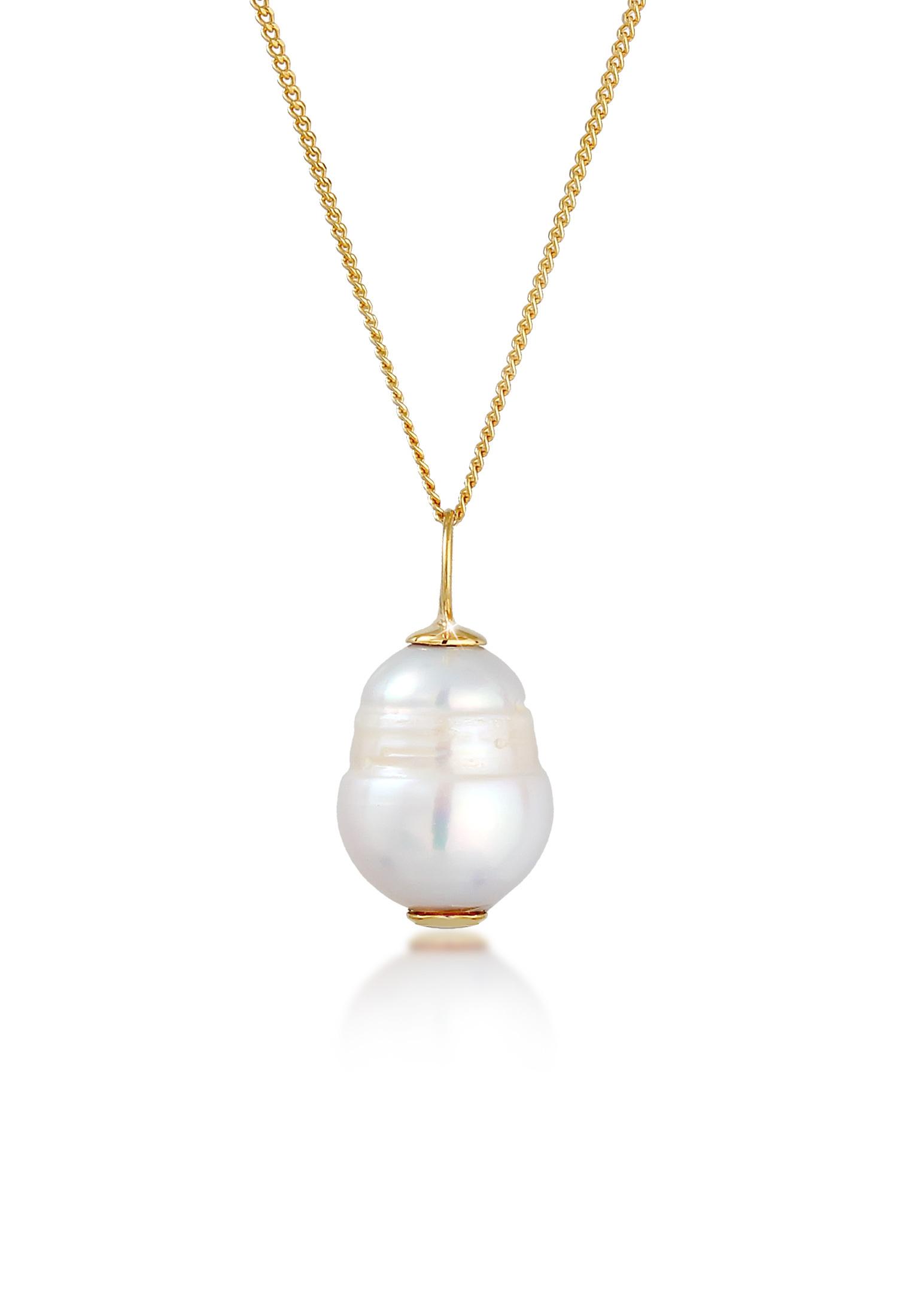 Halskette | Süßwasserperle | 375 Gelbgold