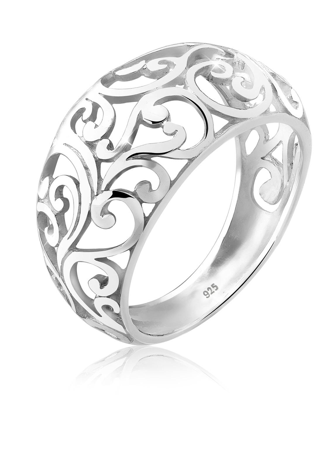 Ornament Floral Emaille 925er Sterling Silber