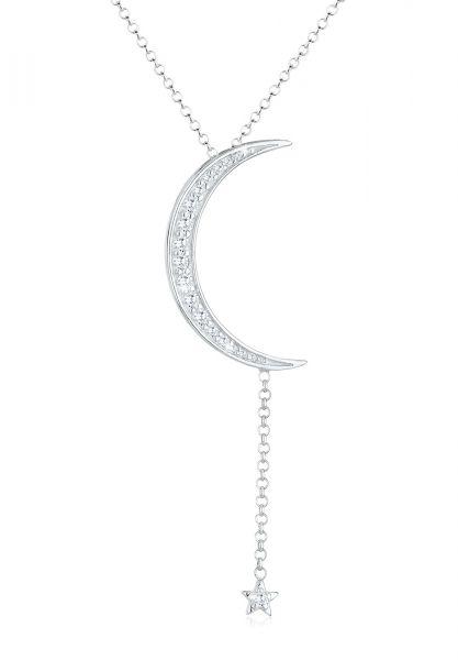 Halskette Astro | Zirkonia ( Weiß ) | 925er Sterling Silber