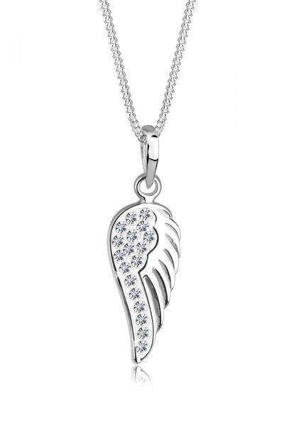 Elli Halskette Flügel Engel Kristalle 925 Silber