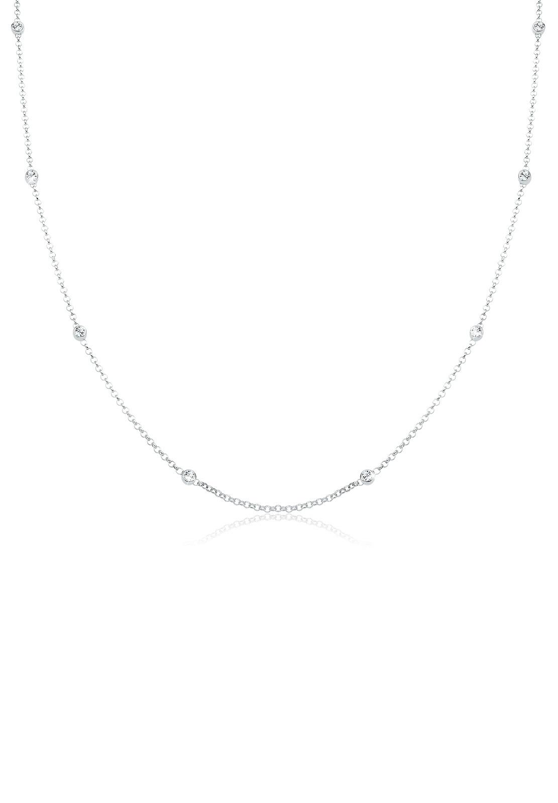 Halskette Basic | Kristalle ( Weiß ) | 925er Sterling Silber