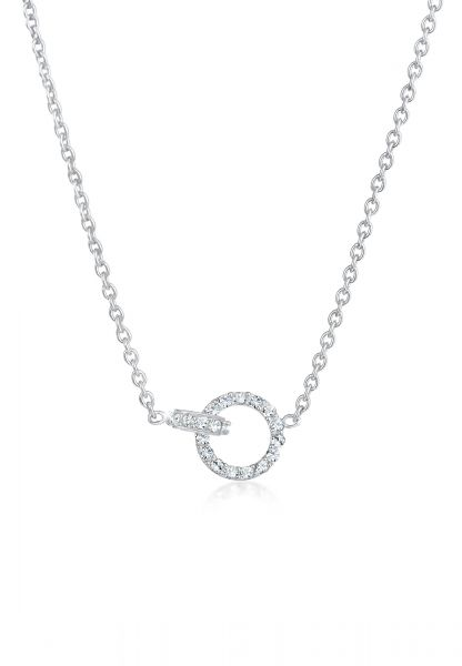 Elli Halskette Verbunden Kristalle 925 Sterling Silber