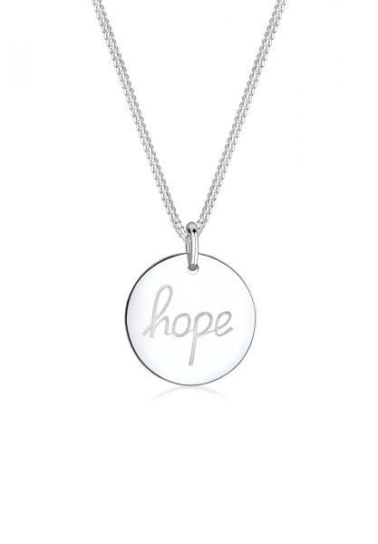 Elli Halskette Hope Schriftzug Wording 925 Sterling Silber