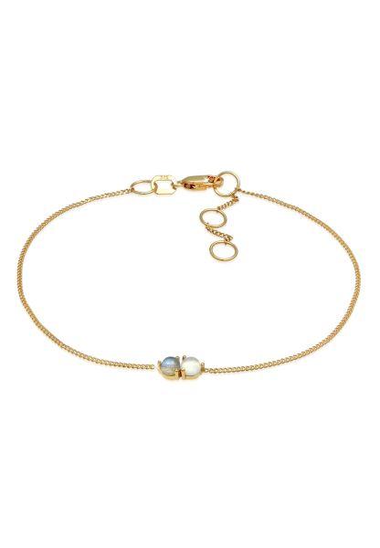 Armband   Mondstein ( Weiß )   375 Gelbgold