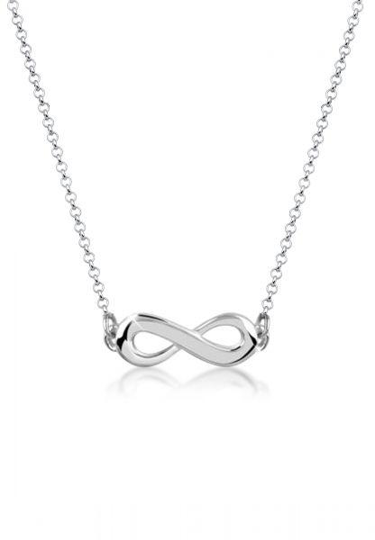Nenalina Halskette Infinity Unendlichkeit Symbol 925 Sterling Silber