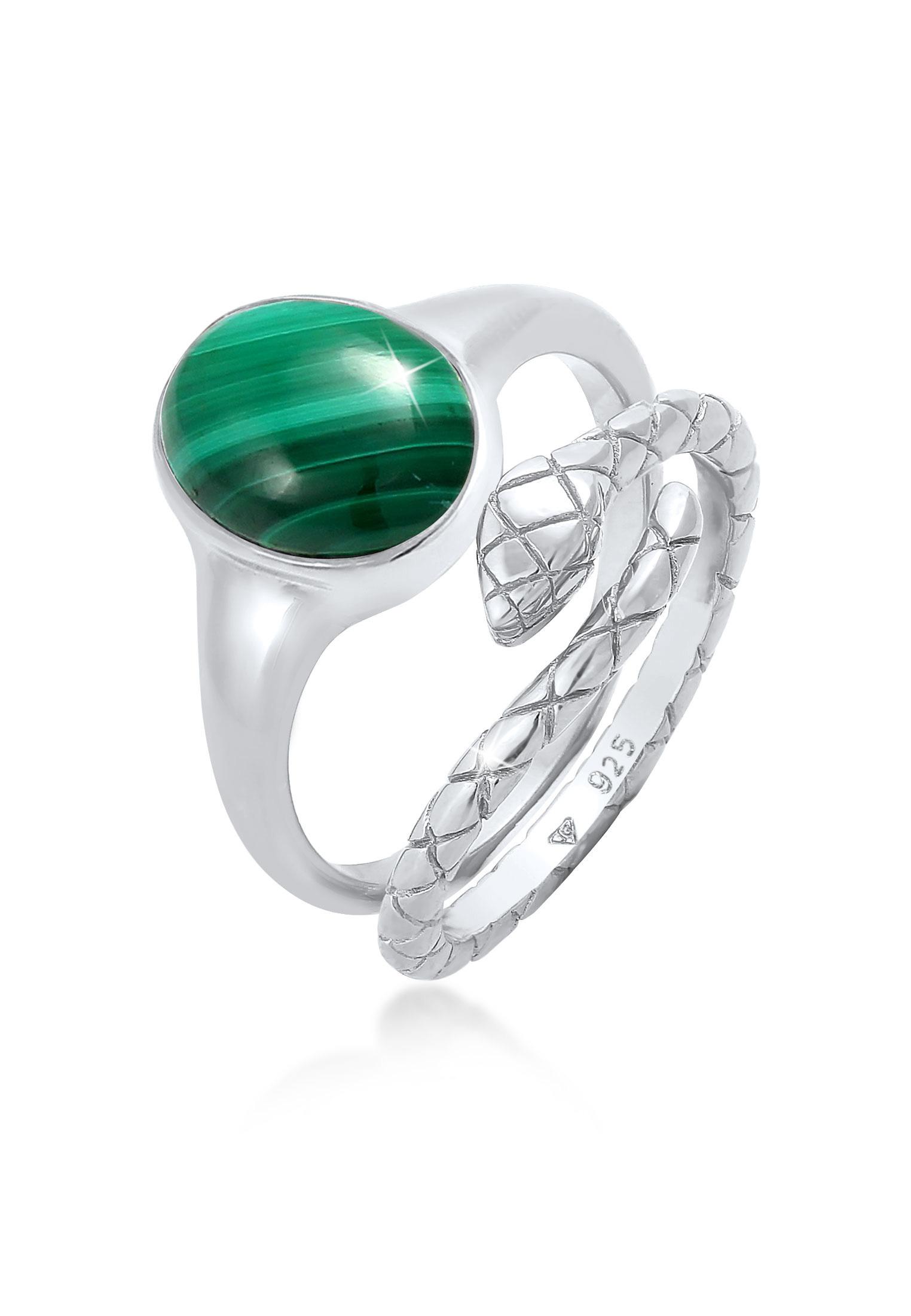 Ringset | Malachit ( Grün ) | 925er Sterling Silber