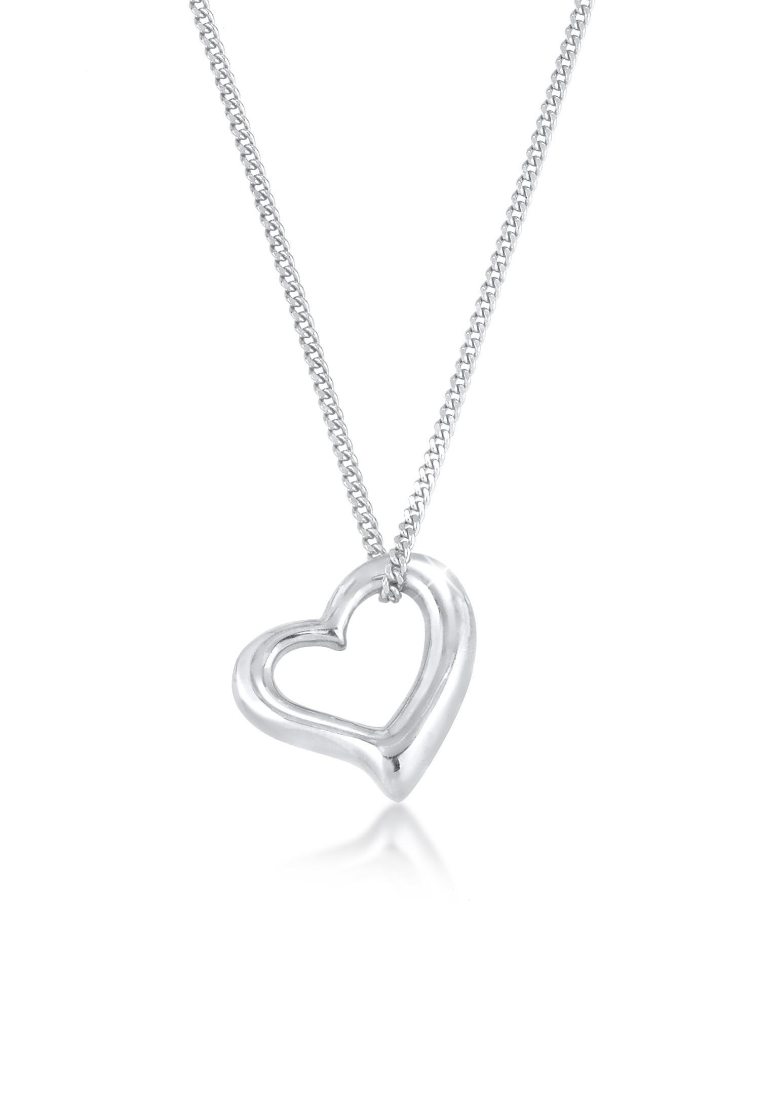 Halskette Herz Cut Out | 925er Sterling Silber