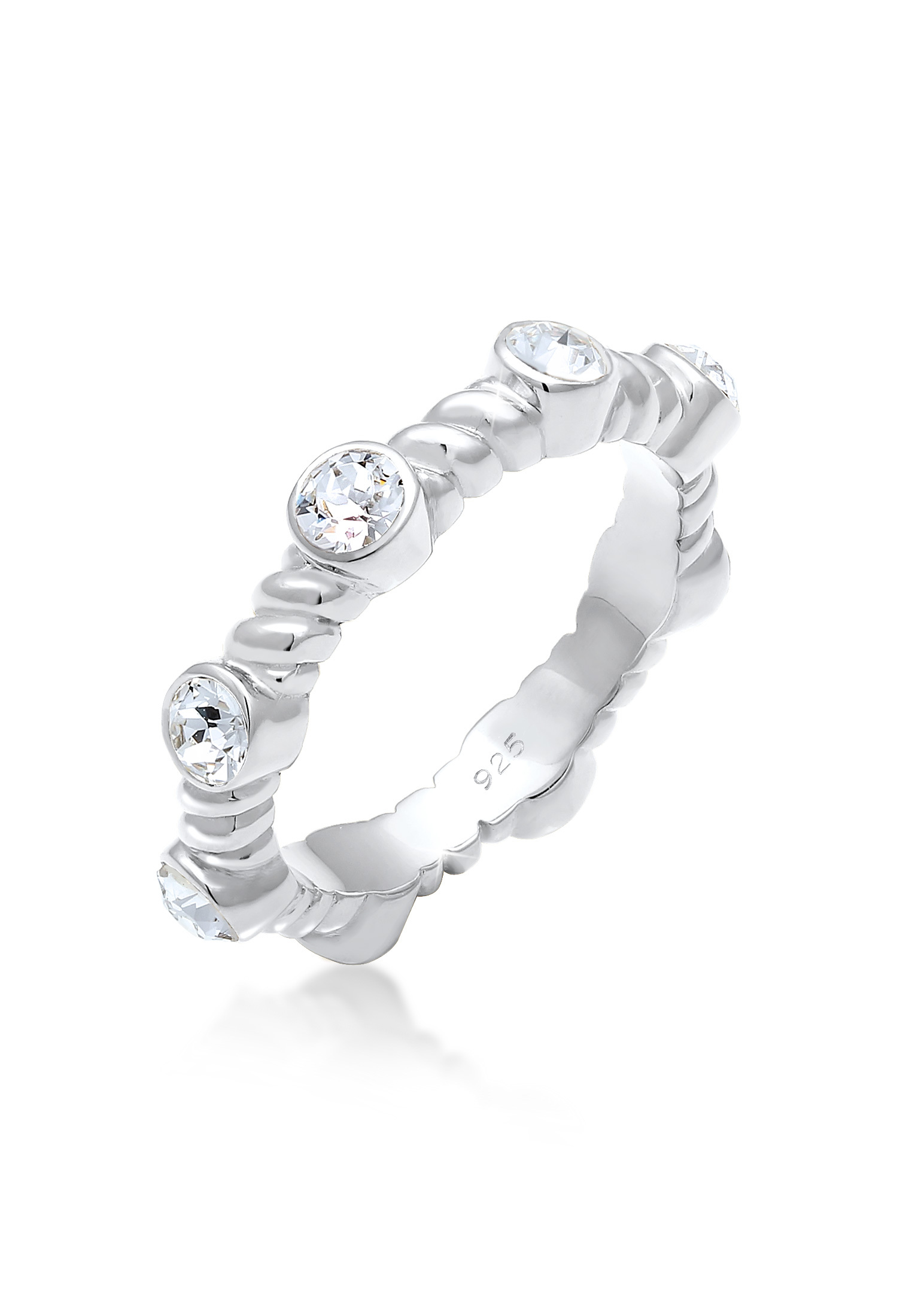 Ring Twisted | Kristall ( Weiß ) | 925er Sterling Silber